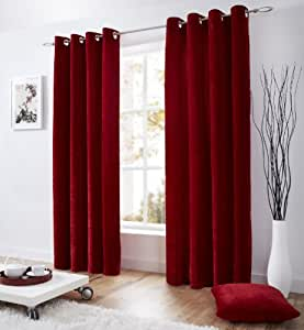 Ring Top Eyelet Lined Velvet Curtains 58 Quot Wide X 90 Quot Drop