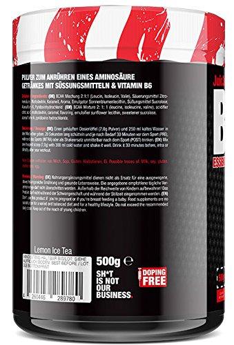 BlackLine 2.0 Juic3d BCAA - Instant Aminosäure Pulver. Vegan, Vitamin B6, Aminos 2:1:1 Leucin, Isoleucin, Valin. 1 x 500g (Eistee Zitrone) - 3