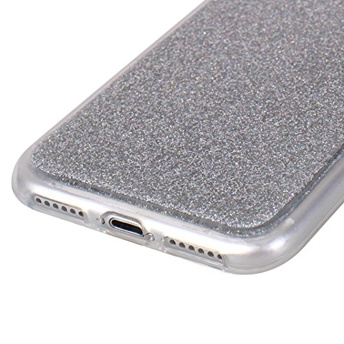 iPhone 8 Hülle, Asnlove Premium TPU Silikon Bling Glitzer Schutzhülle für iPhone 7 / iPhone 8 Handyhülle Schale Etui Protective Case Cover Design Rose Gold/Silver