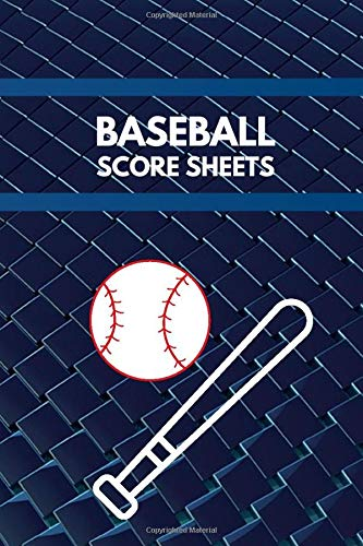 Baseball Score Sheets: Baseball Score Sheets, Baseball Score Pads, Scorekeeping Book, Scorecards, Record Scorekeeper Book Gifts for Baseball Team, ... with 110 Pages. (Baseball Scorebook, Band 26)