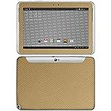 atFolix Samsung Galaxy Note 10.1 (2012 Edition) Skin FX-Carbon-Gold Designfolie Sticker - Carbon-Struktur/Carbon-Folie