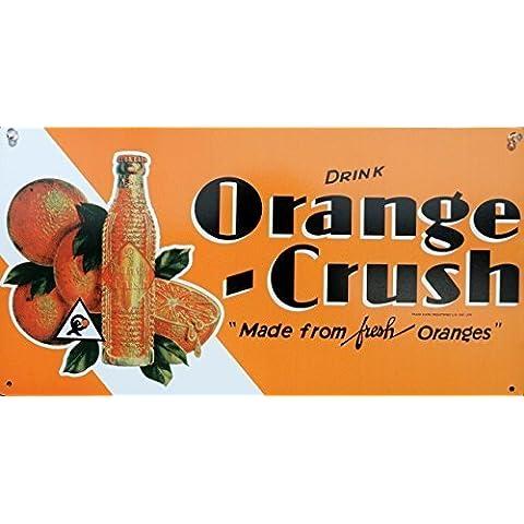 Orange Crush Metal Sign by Kool