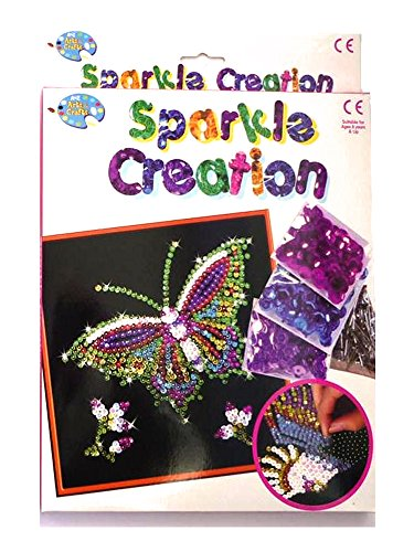 childrens-sequin-sparkle-creation-butterfly-pin-art-and-craft-set-butterfly