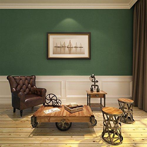 HANMERO® Murales de papel pintado vintage papel de pared dormitorios/salón/hotel/ fondo de TV /color color verde,0.53M*10M