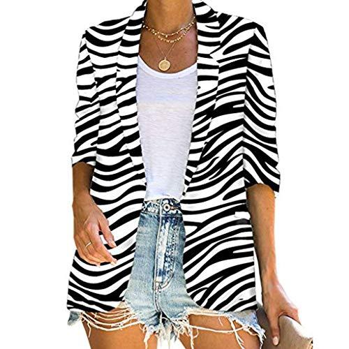 Ncenglings Damen Strickjacke Herbst Cardigan Sexy Zebradruck Strickcardigan Mode Leopard Blazer Casual Ahornblatt drucken Cover Up Langarmshirt Wintermantel Open Front Pullover Tops Schlanke Jackets -