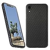 VIVERSIS echte Carbon Hülle für iPhone XR, schwarz, ultradünn, sehr leicht, robust, kabelloses Laden, Premium Qualität - Made in Germany