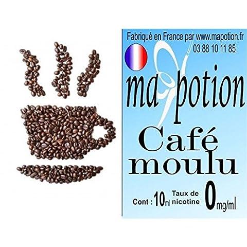 MA POTION - E-Liquide Saveur Café moulu, Eliquide Français Ma Potion, recharge liquide pour cigarette électronique. Sans nicotine ni tabac