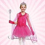 Disfraz de princesa / Disfraz de hada - Juego de 5 accesorios - Rosa brillante