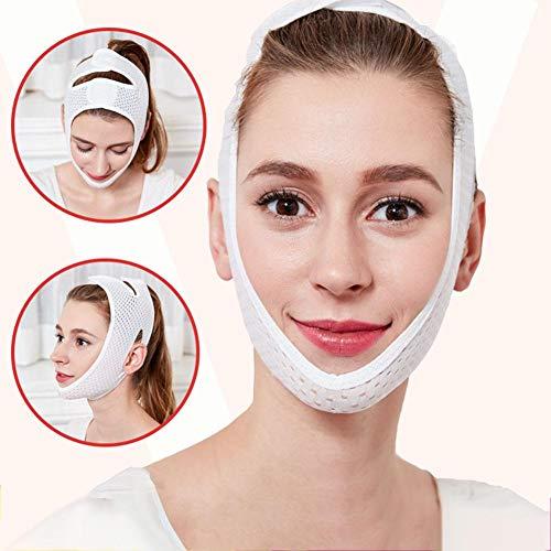 MUYIER V-Form-Face-Lifting, V-Form-Face-Slimming-Maske für Frauen zum Heben und Festziehen der Kinnmaske Face-Lifting Doppelkinn-Reduzierer Intensive Lifting-Maske - Intensive Face Lift