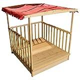 Spielhaus Sandkasten Spielhaus Sandbox Holz überdacht