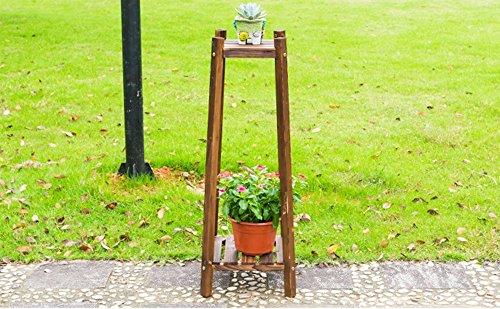 Solid wood flower rack Massivholz-Blumen-Gestell, Boden-Stil grün Rettich Bonsai Blumentopf Gestell, Balkon Wohnzimmer mehrschichtige hängende Orchidee Gestell (größe : 45 * 9 * 90cm) -