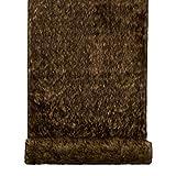 Fell Dekostoff auf Rolle 37x180cm braun zum Basteln Nähen und Dekorieren für Tischläufer Vorhänge und Kissen