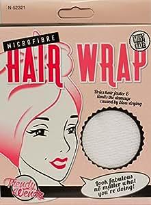Serviette en microfibres blanche pour les cheveux - Import Royaume Uni