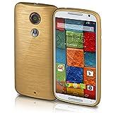 Motorola Moto X2 Hülle Silikon Gold [OneFlow Brushed