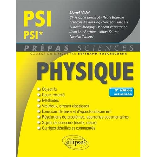 Physique PSI/PSI* - 3e édition actualisée