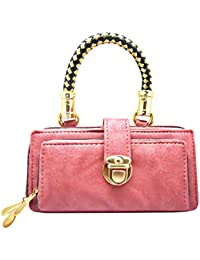 Stylish Pink Color Hand Bag By Online Fashion Bazaar - Stylish Pink Color Soft Pu Leather Material Handbag For...