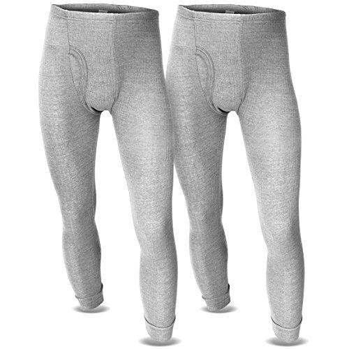 Thermounterhose Thermounterwäsche Sport Unterhosen Männer 2 Stück lange Unterhose BlackSnake® Grau