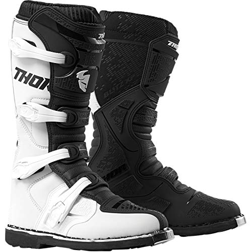 Thor Flash XP Quad ATV Botas de Enduro Motocross MX Negro Blanco 2019
