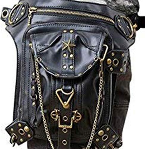OMAS gótica de Steampunk retro rock punk Mujeres hombro bolsa riñonera bolsillo de la carpeta
