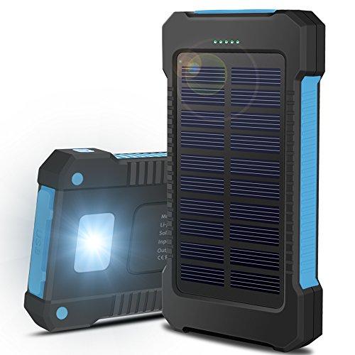 Cargador Solar Móvil 15000mAh, OKE Batería Externa Solar Banco de energía Power...
