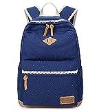SANNU Nette Mädchen Schule Segeltuch Rucksäcke Jugendliche Baumwollgewebe Schule Beutel mit schicker Spitze für im FreienTaschenpacks