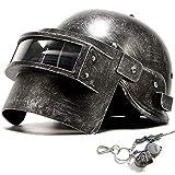 BBYaki Helm Game PUBG Specia Force DREI Level Helm Cosplay Props Level Armor Level Cool Spiel Cosplay Schlachtfelder Taktische Maske Abs Black Chicken Dinner Spiel Outdoor,Scratch