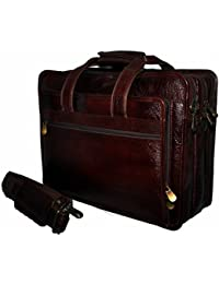 Hidekin - Aurigae Crafted To Meet Your Business Needs Brown Color Leather Laptop Bag