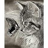 BaZhaHei 5D Diamant Malerei Stickerei Gemälde Strass eingefügt DIY Kreuzstich Stickerei Vollbohrer Home Schneemann Schmetterling Katze Diamant Malerei