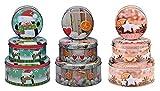 GYD Weihnachts-Keksdosen-Set 3-TLG, rund, Gebäckdose, Weihnachten versch Motive