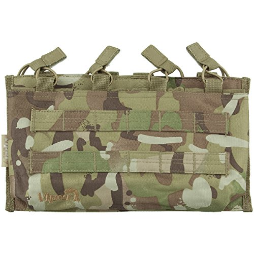 VIPER TACTICAL QUAD MAGAZINE MOLLE POUCH V-CAM AIRSOFT MULTICAM STYLE