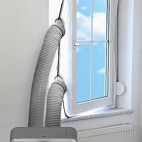 AirLock Fensterabdichtung für mobile Klimageräte und Ablufttrockner Hot Air Stop Juleya