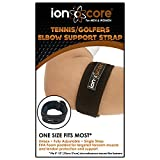 ionocore® Tennis Elbow Strap - Golf & Tennis Arm Support Brace with Targeted Compression Pad - Single Strap Fully Adjustable Forearm and Elbow Pain Relief (1)