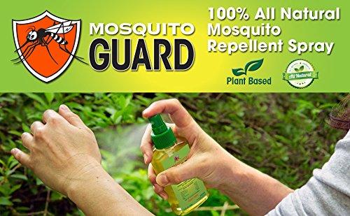 Mosquito Guard Répulsif Spray (4 FL Oz) fait avec 100% à base de plante naturelle tous les ingrédients - citronnelle, huile de citronnelle, NON toxique