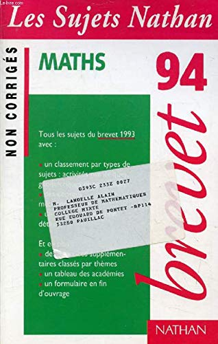 Maths brevet 94/non corriges