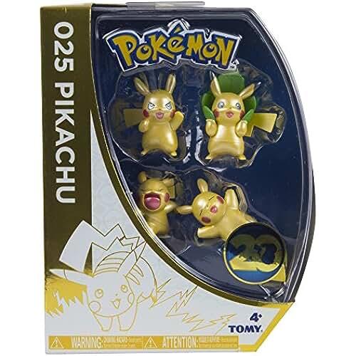 figuras kawaii Pokémon - Pack de 4 mini figuras (Tomy T18725ASST2)