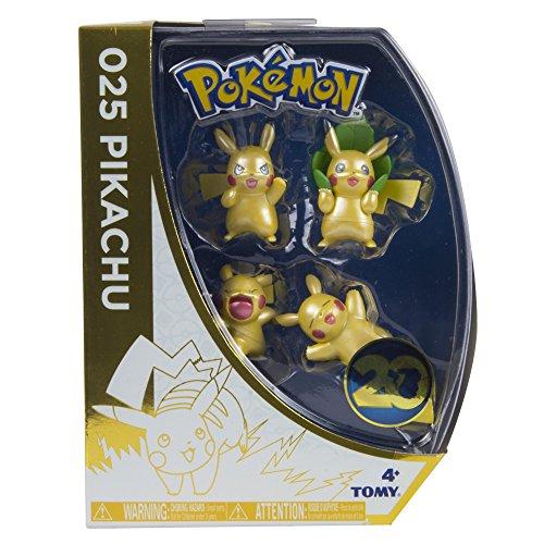 Pokèmon - Pack de 4 Mini Figuras (Tomy T18725ASST2)