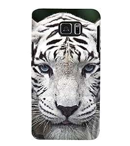 Fuson Designer Back Case Cover for Samsung Galaxy Note 5 :: Samsung Galaxy Note 5 N920G :: Samsung Galaxy Note5 N920T N920A N920I (White tiger royal bengal tiger Fierce Tiger Greenish Cool Tiger)