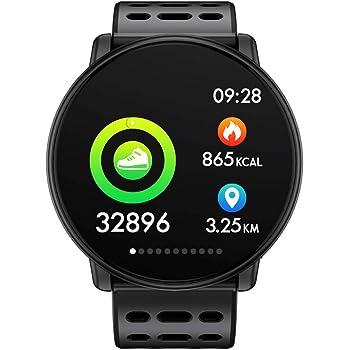 Azorex SmartWatch Multifunción Reloj Inteligente Redondo Deportivo Impermeable IP67, Pulsera Actividad Control Remoto para iPhone Xiaomi, Huawei Samsung ...