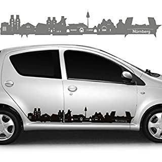 Car Sticker Car Sticker City Skyline Nuremberg, Vinyl, copper, 314,00 cm x 58,00 cm (MITTEL)