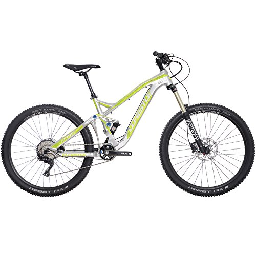 Whistle Bici Dakota 1722 27.5'' 11-Velocità taglia 43 silver/giallo 2018 (MTB Biammortizzate) / Bike Dakota 1722 27.5'' 11-Speed size 43 silver/yellow 2018 (MTB Full suspension)
