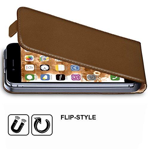iPhone 5S Hülle Dunkel-Rot [OneFlow 360° Klapp-Hülle] Etui thin Handytasche Dünn Handyhülle für iPhone 5/5S/SE Case Flip Cover Schutzhülle Kunst-Leder Tasche UMBER-BROWN