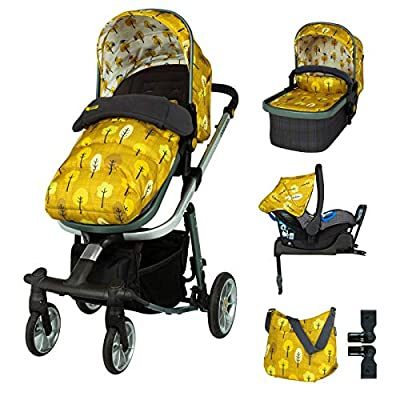 Cosatto Giggle Quad Travel Sytem Spot The Birdie with Car Seat Base Bag footmuff & Raincover