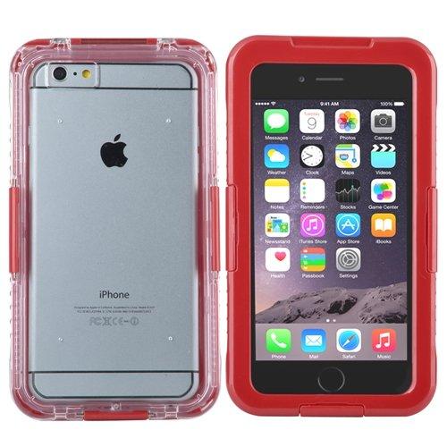 """ChannelExpert Wasserdicht Cover Waterproof Case Outdoor Schutz Hülle Handy Wasserfest Tasche für Apple iPhone 6 Plus 5.5"""" blau Rot"""