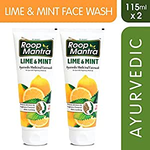 Roop Mantra Herbal Lime and Mint Face Wash for Men and Women, 115ml (Pack of 2)