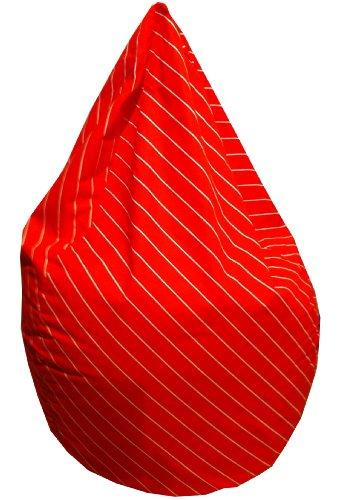 Valerian Sitzsack Stripe rot, L CA. 220 LITER
