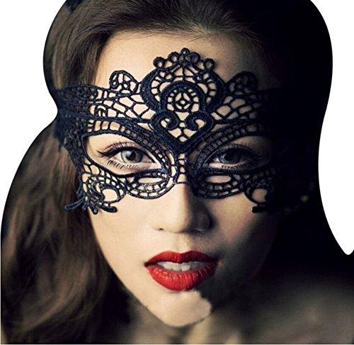 Cdet Maske Halbe Gesichtsmaske Halloween Maske Lace Charme Lidschatten ()