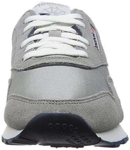 Reebok Classic Nylon, 36088 Sneakers Basses, Homme Gris (Platinum/Jet Blue)