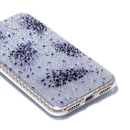 Pour Apple Iphone X Case Cover, Ecoway TPU Soft Motif de placage en couleur personalized pattern Housse en silicone Housse de protection Housse pour téléphone portable pour Apple Iphone X - diamant plume