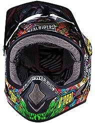 0500KC-102 - Oneal Backflip Evo Fidlock Crank DH Kids Cycle Helmet 3XS Black/Multi
