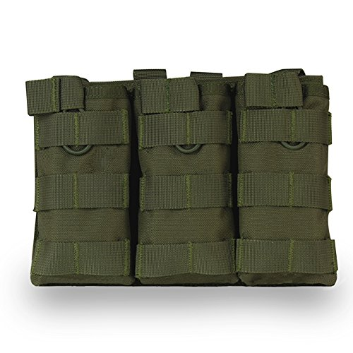 Wongfon Super Taschen Mags Pouch MOLLE Mag Lagerung Open Top Rifle AR AK Mag Pouch M4 Magazin Halter für Airsoft 1000D Nylon -